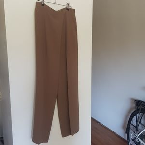 Wilfred crossover Drape-front pant, taupe, sz 10